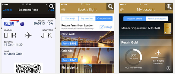 British Airways mobile app