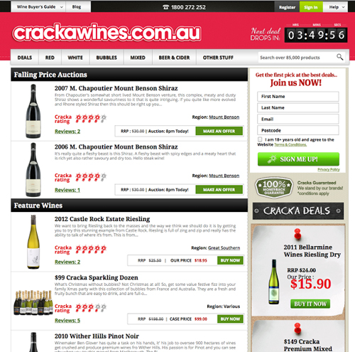 Cracka Wines screenshot