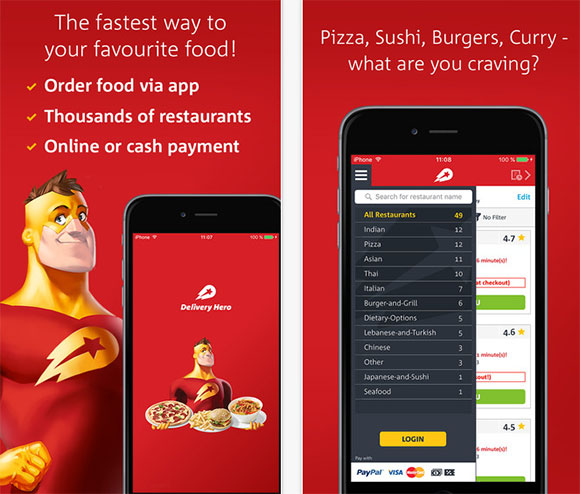 Delivery Hero Mobile App