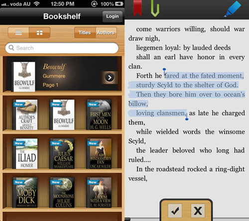 eBooks mobile app