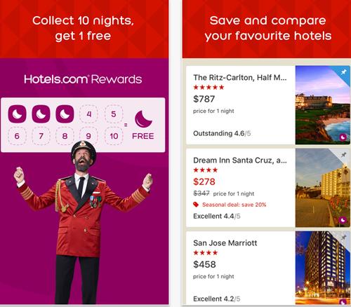 Hotels.com mobile app