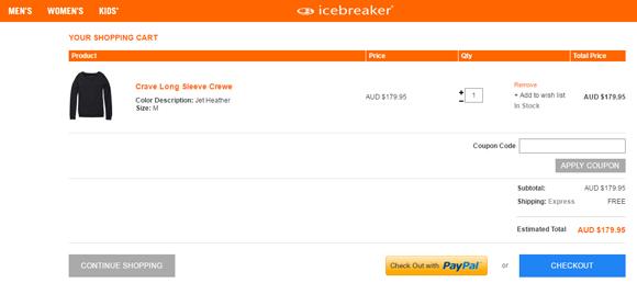 Icebreaker checkout