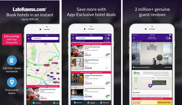 LateRooms mobile app