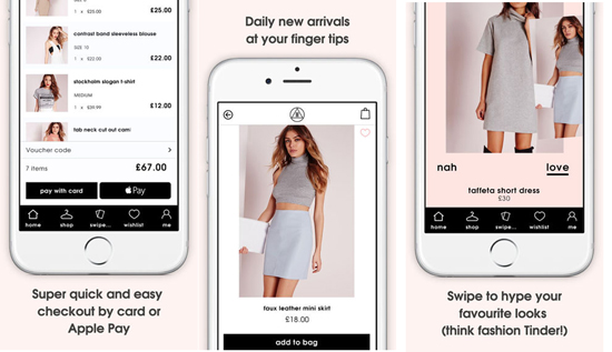 Missguided mobile app