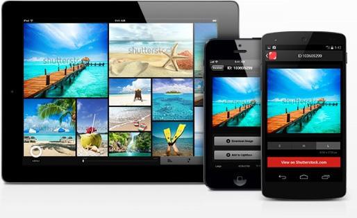 Shutterstock mobile app