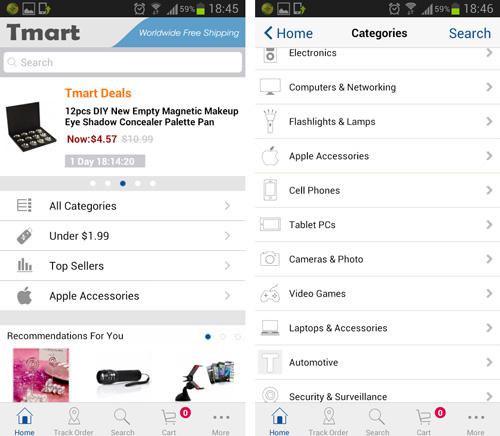 Tmart mobile app
