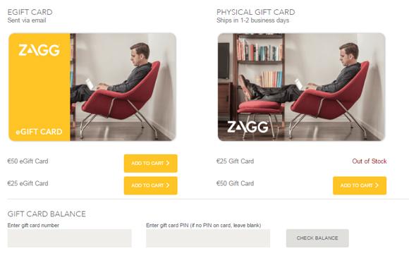 ZAGGgift vouchers