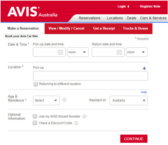 Avis Car Rental Coupon Codes Australia