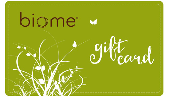 Biome gift cards