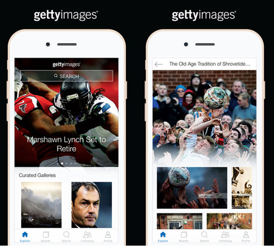 Getty Images mobile app