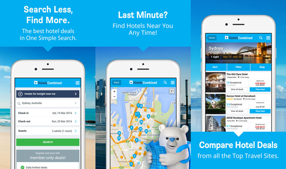 HotelsCombined mobile app