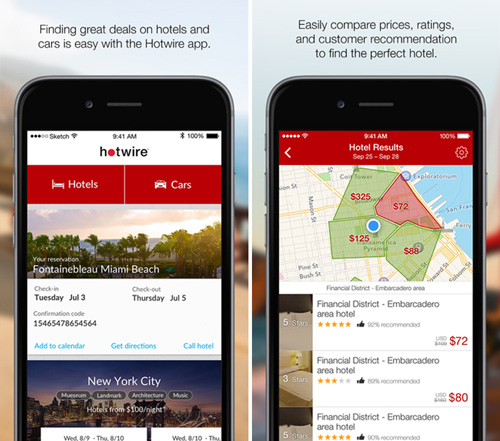 Hotwire mobile app