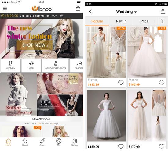 Milanoo mobile app