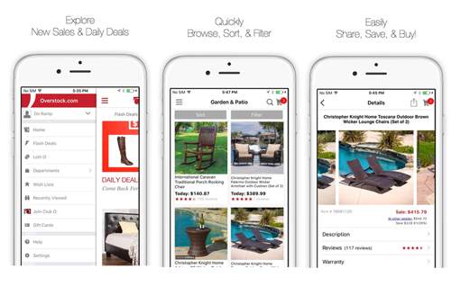 Overstock mobile app