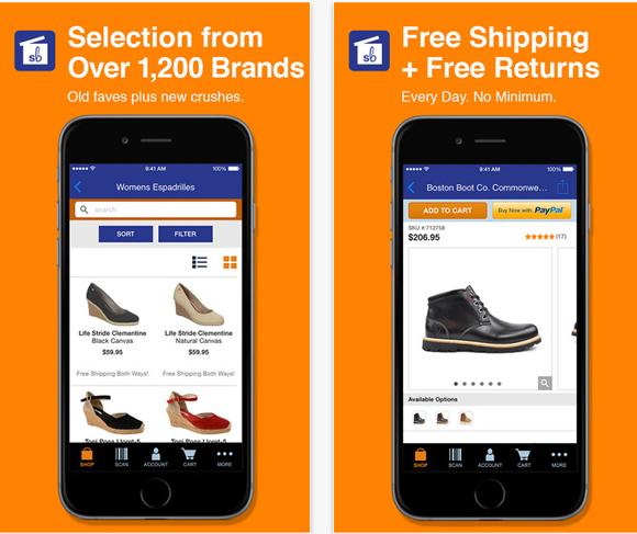 Shoebuy mobile app