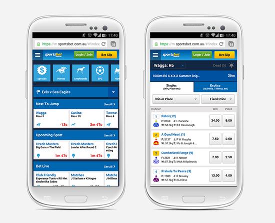 Sportsbet mobile app