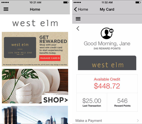 West Elm Mobile app